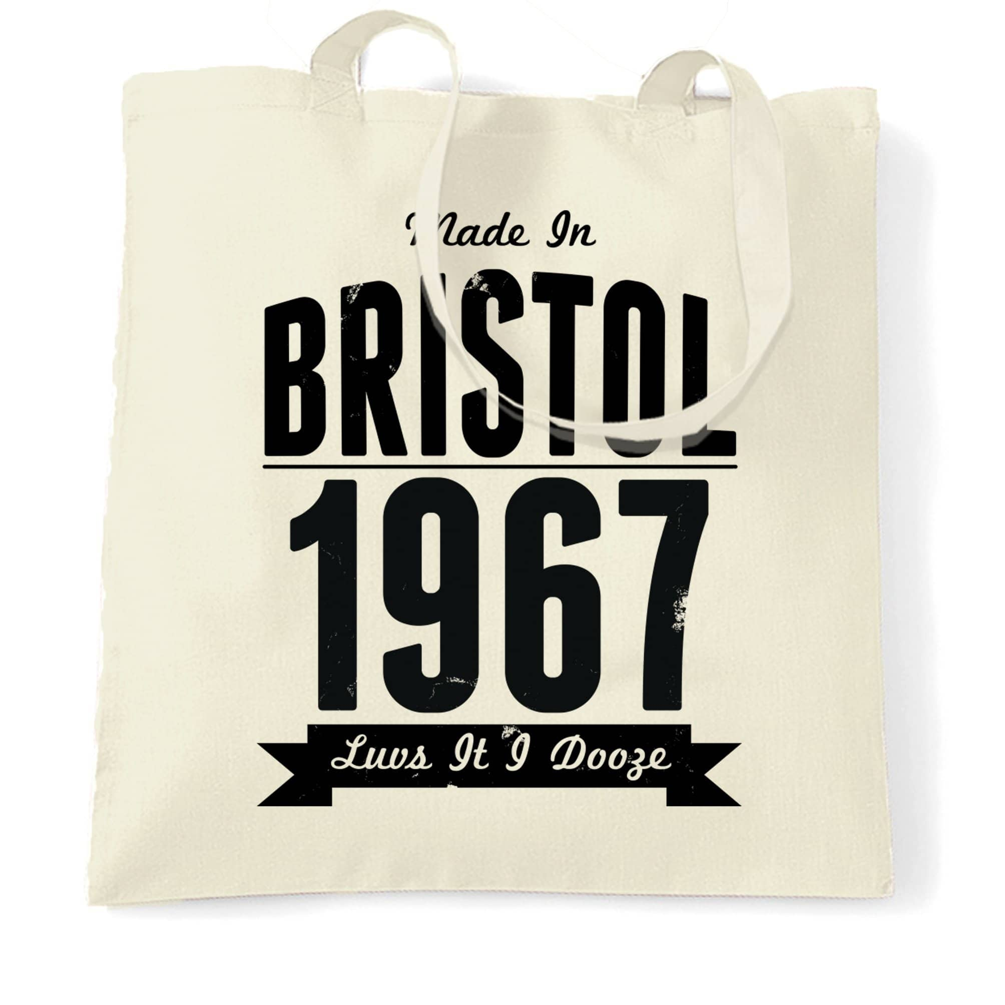 Birthday Tote Bag Made In Bristol, England 1967 Motto