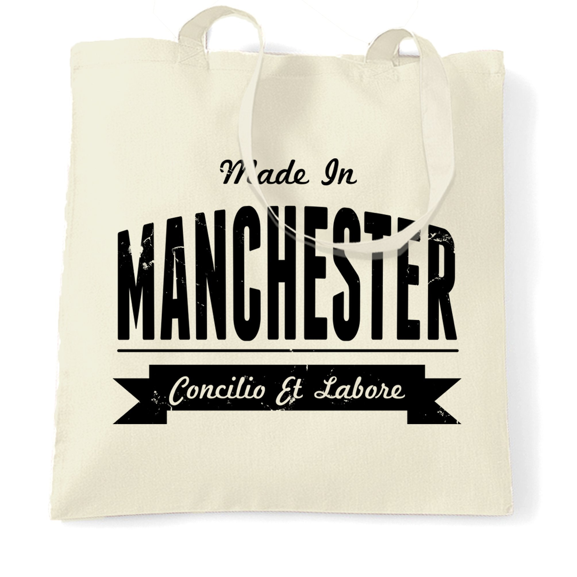 Hometown Pride Tote Bag Made in Manchester Banner
