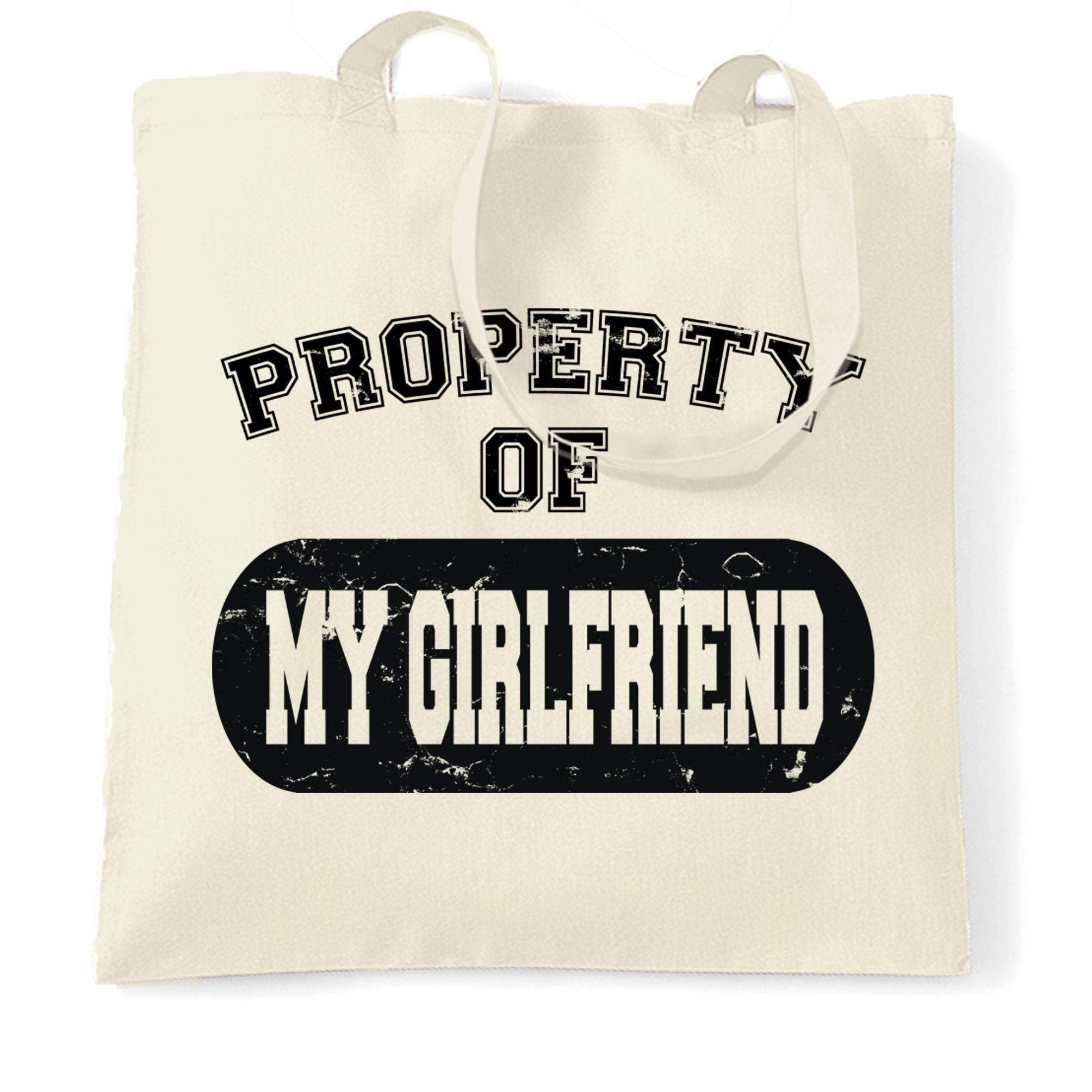 Valentine's Day Tote Bag Property Of My Girlfriend