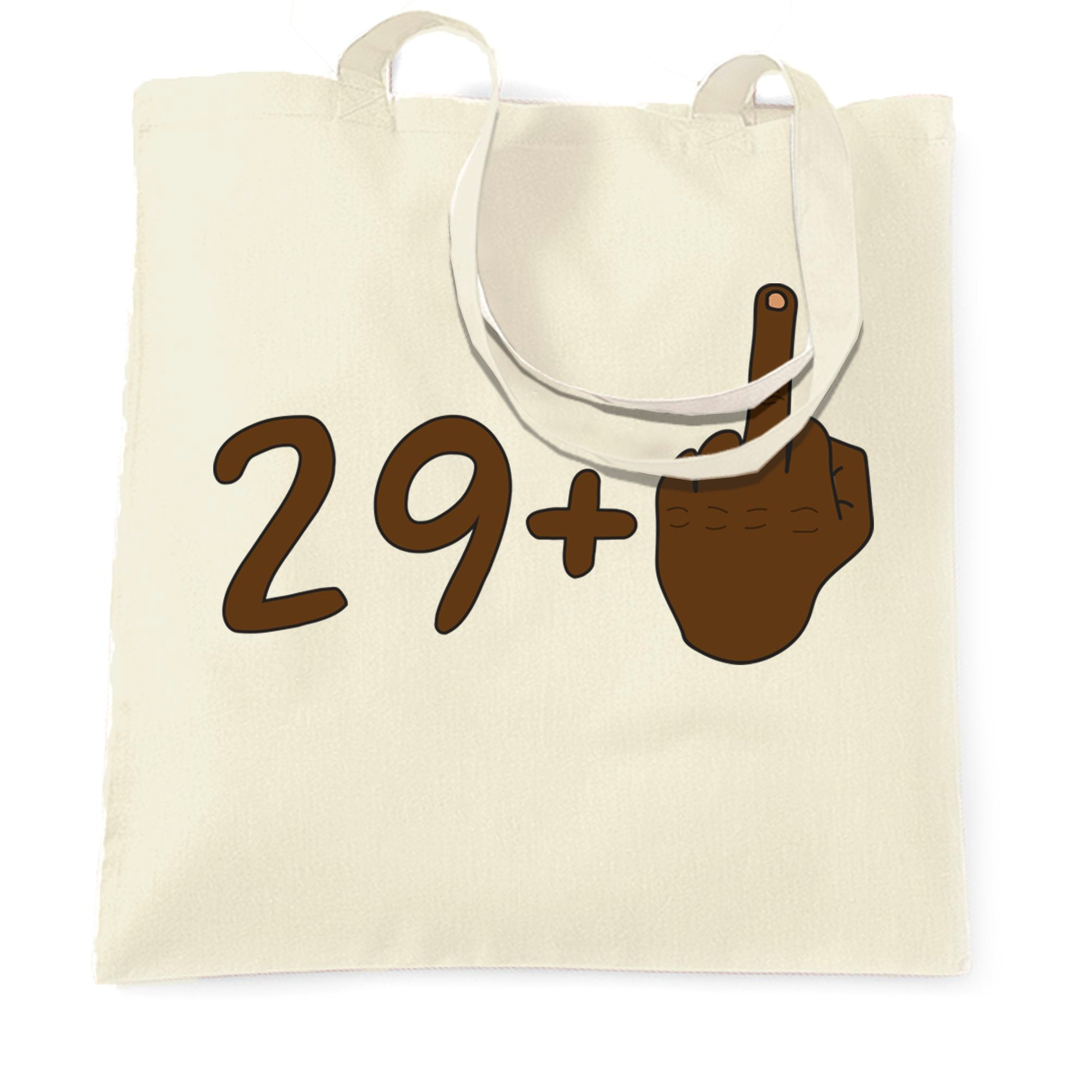 Rude 30th Birthday Tote Bag Black Middle Finger