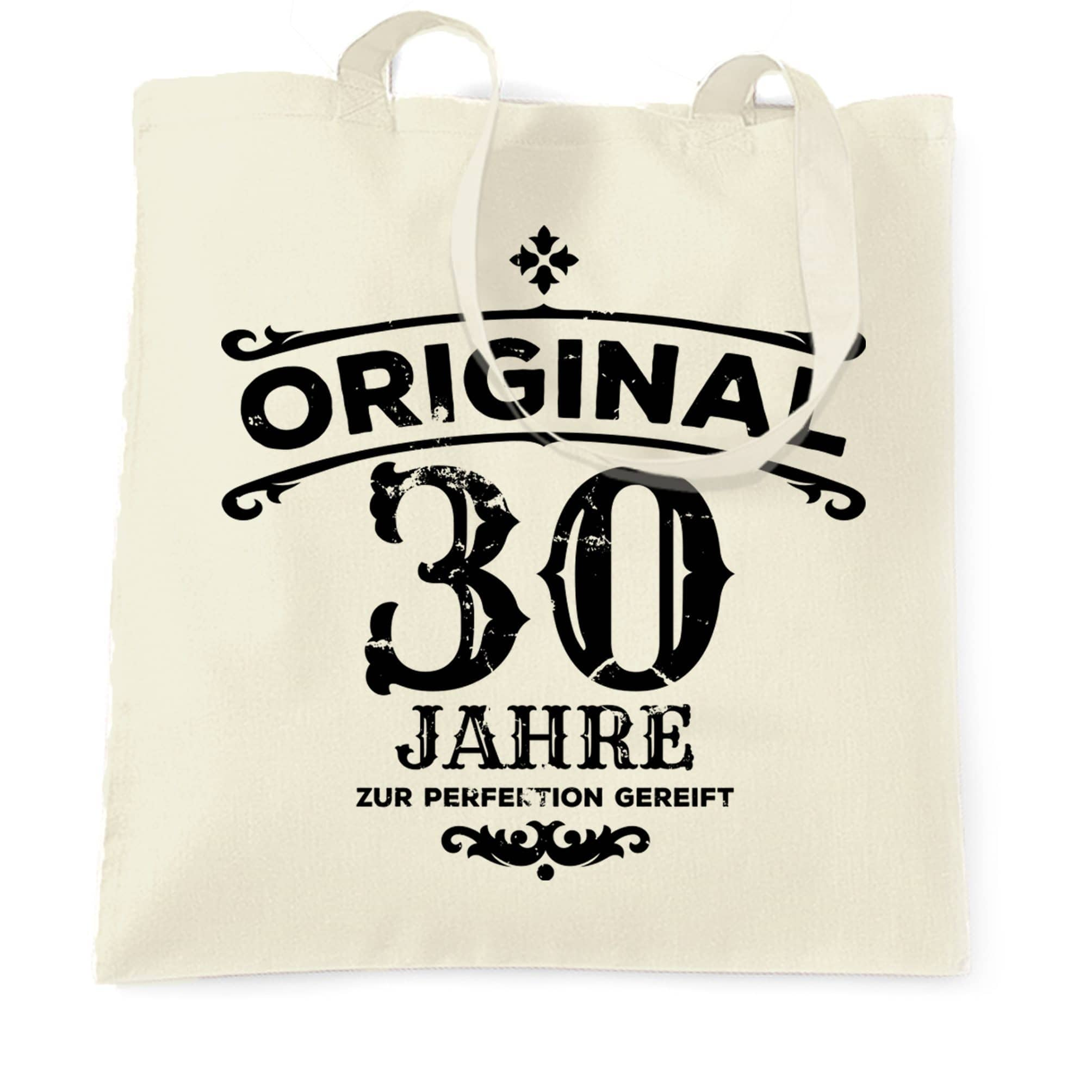 30th Birthday Tote Bag Original Aged 30 Thirty Years