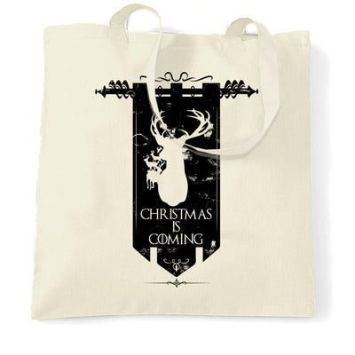 TV Parody Tote Bag Winter Christmas Is Coming