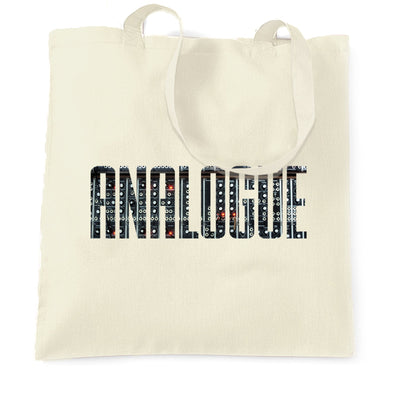 Old School DJ Tote Bag Analogue With Synthesiser