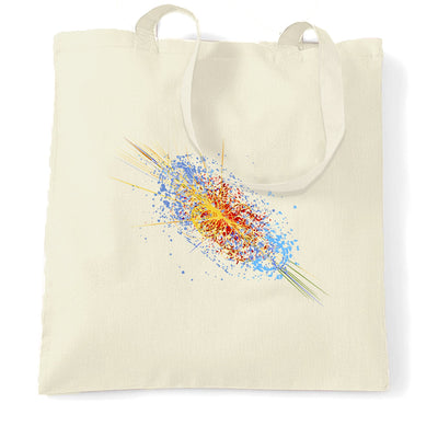 Particle Physics Tote Bag Higgs Boson Discovery Art