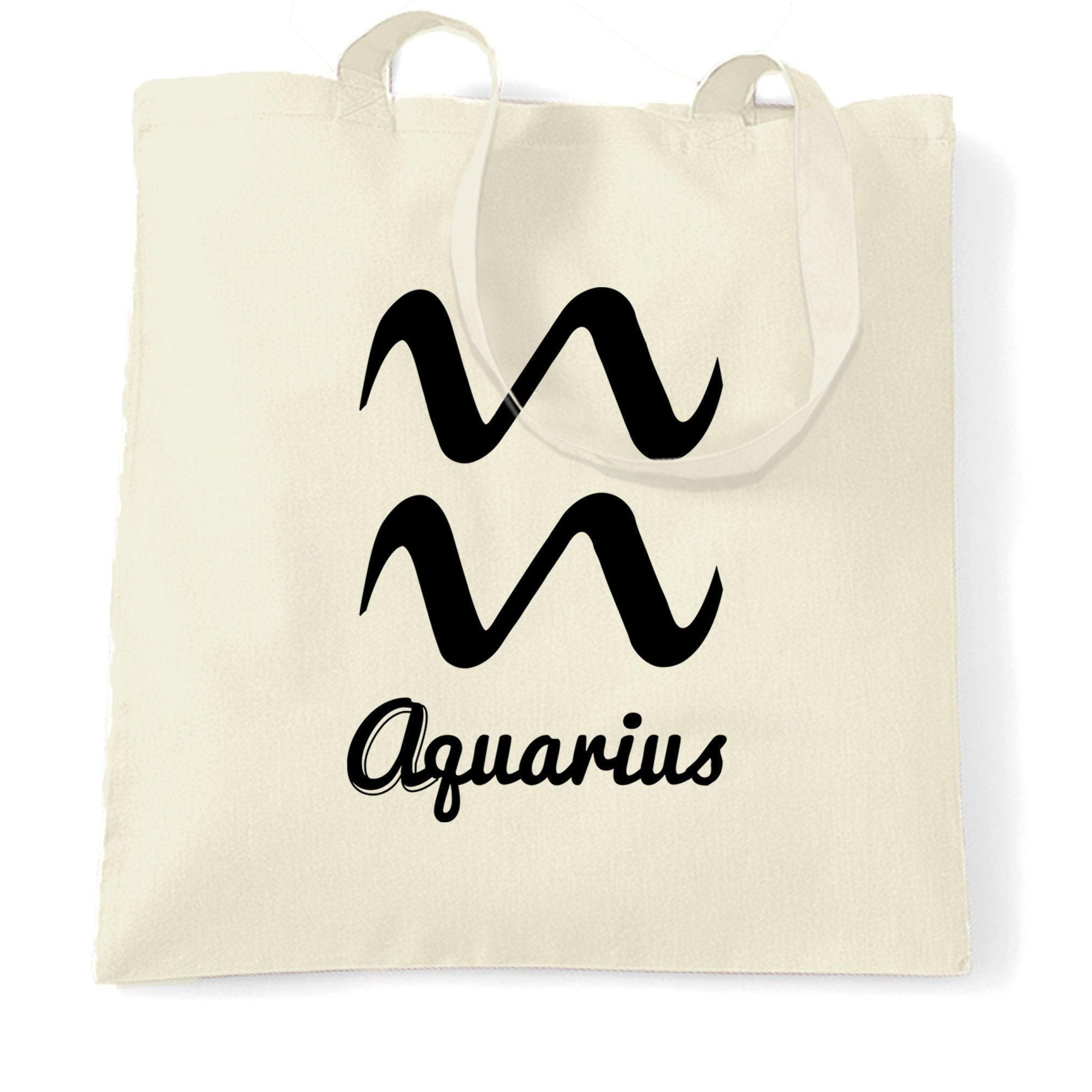 Horoscope Tote Bag Aquarius Zodiac Star Sign Birthday