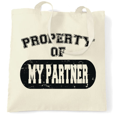 Valentine's Day Tote Bag Property Of My Partner