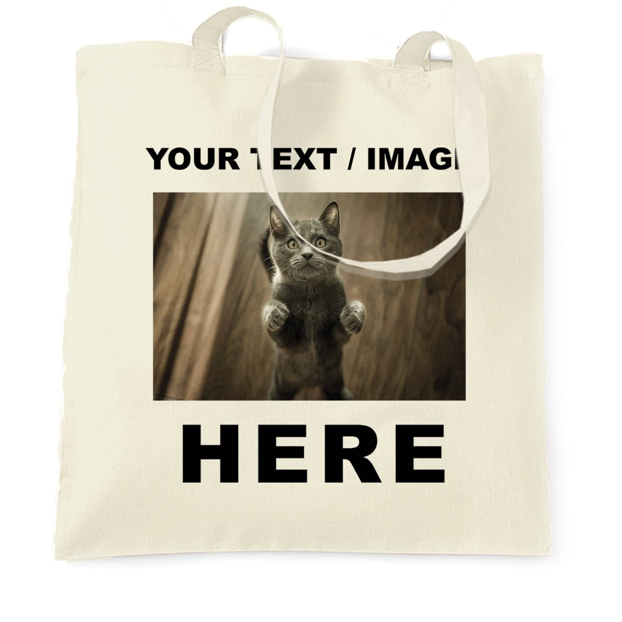 Custom Printed Tote Bag with Your Text or Image