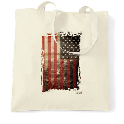 4th Of July Tote Bag Distressed USA American Flag Art