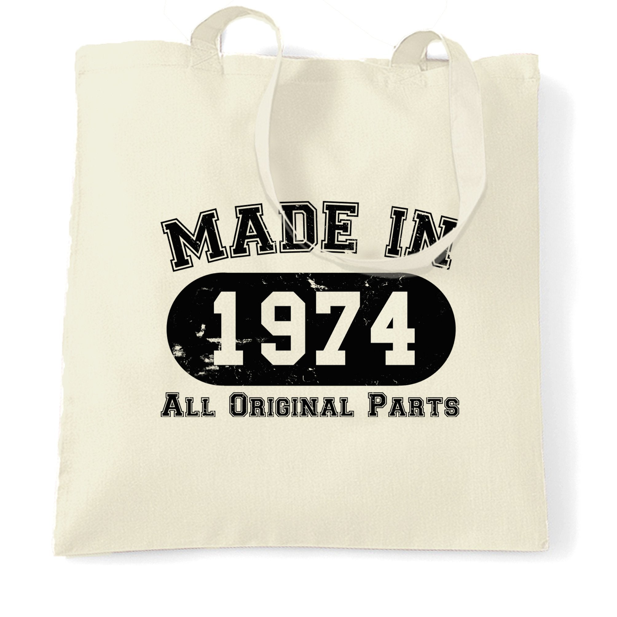 Made in 1974 All Original Parts Tote Bag [Distressed]