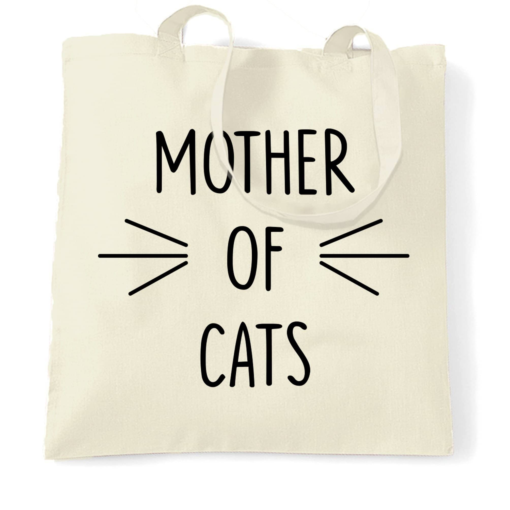 Novelty Pet Tote Bag Mother Of Cats Slogan