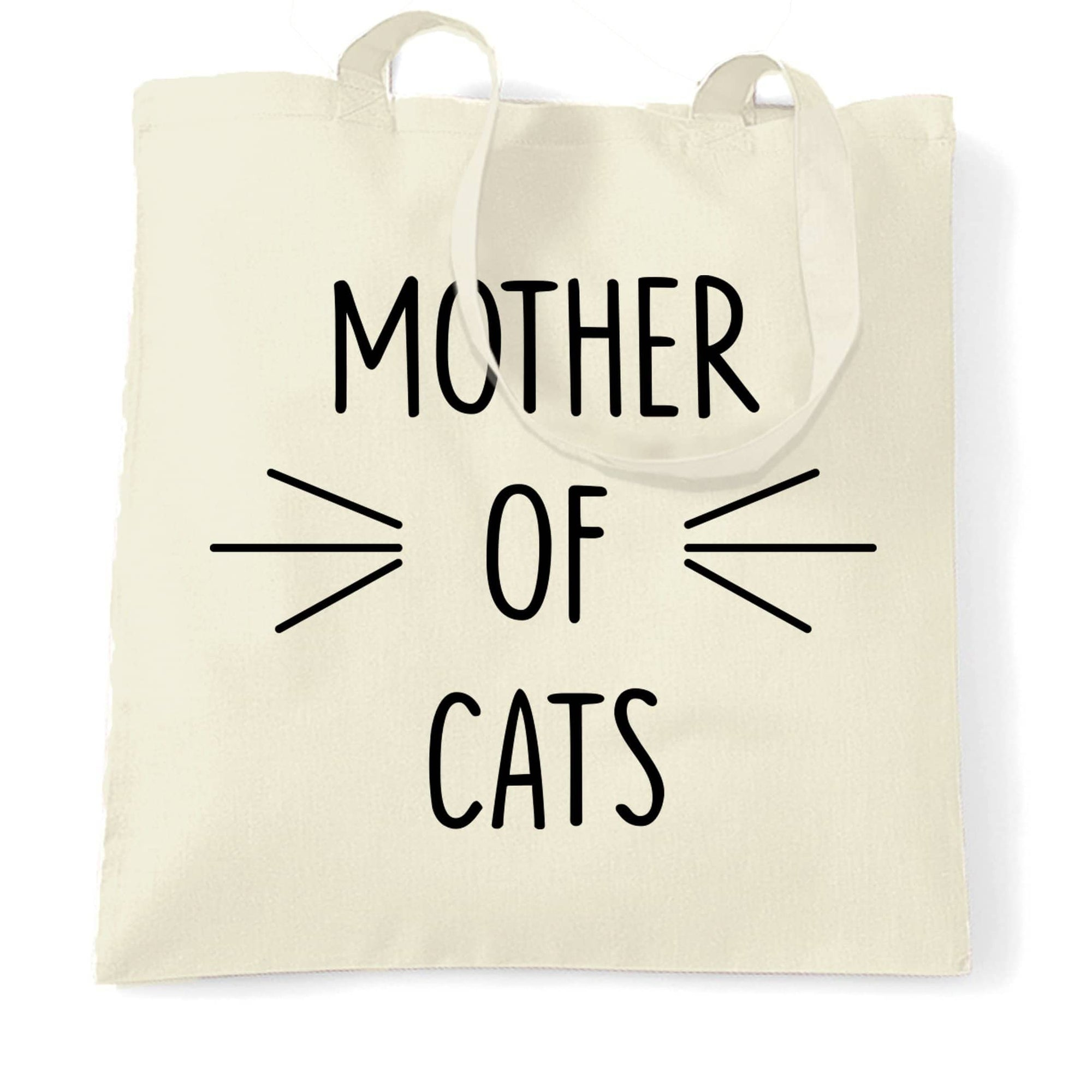 Funny Pet Tote Bag Mother Of Cats Novelty Slogan