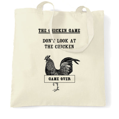 Novelty Tote Bag Don't Look At The Chicken Game Joke