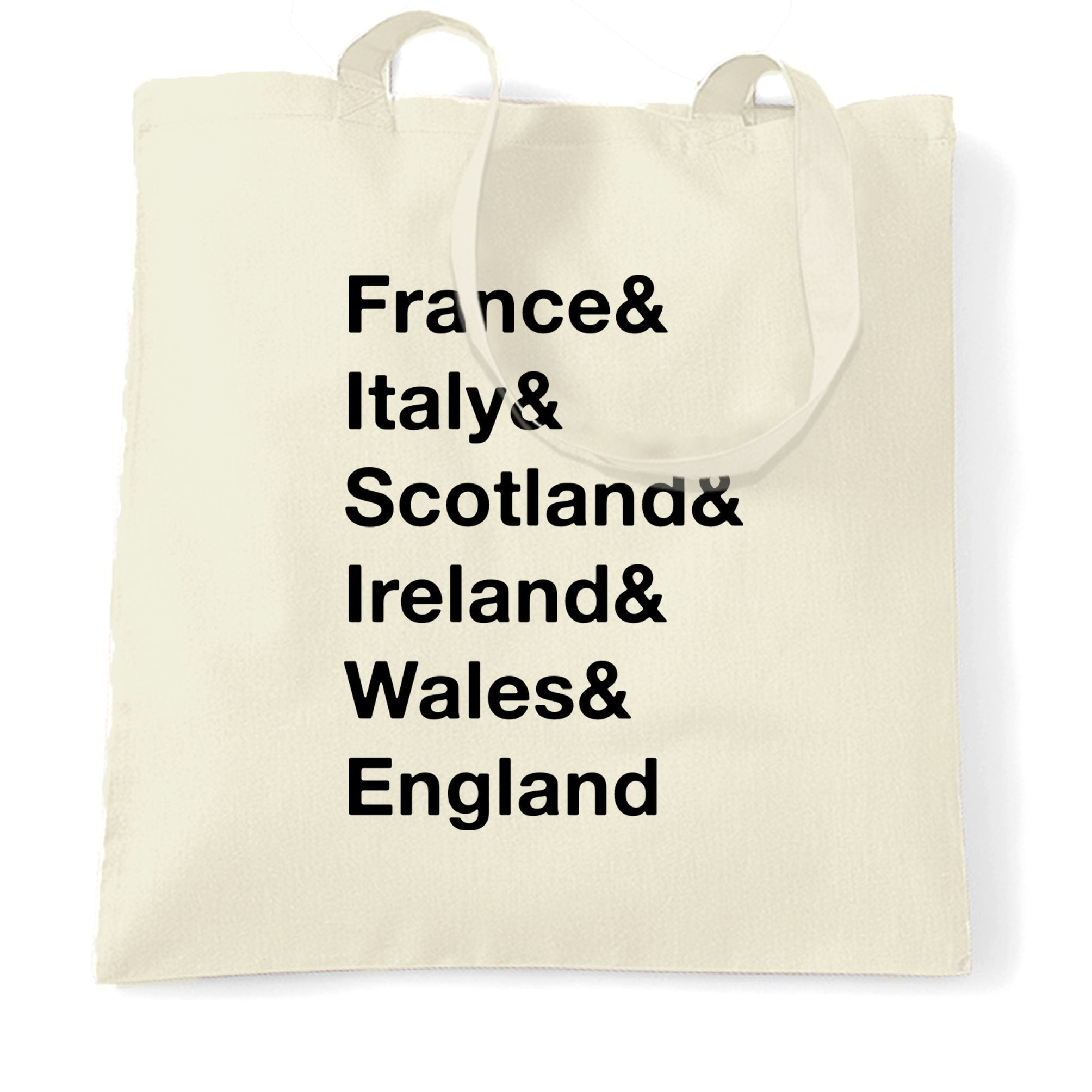 The Six Nations Tote Bag France, Italy, Scotland