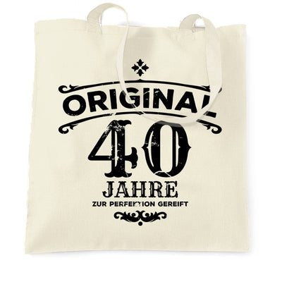 40th Birthday Tote Bag Original Aged Forty 40 Years