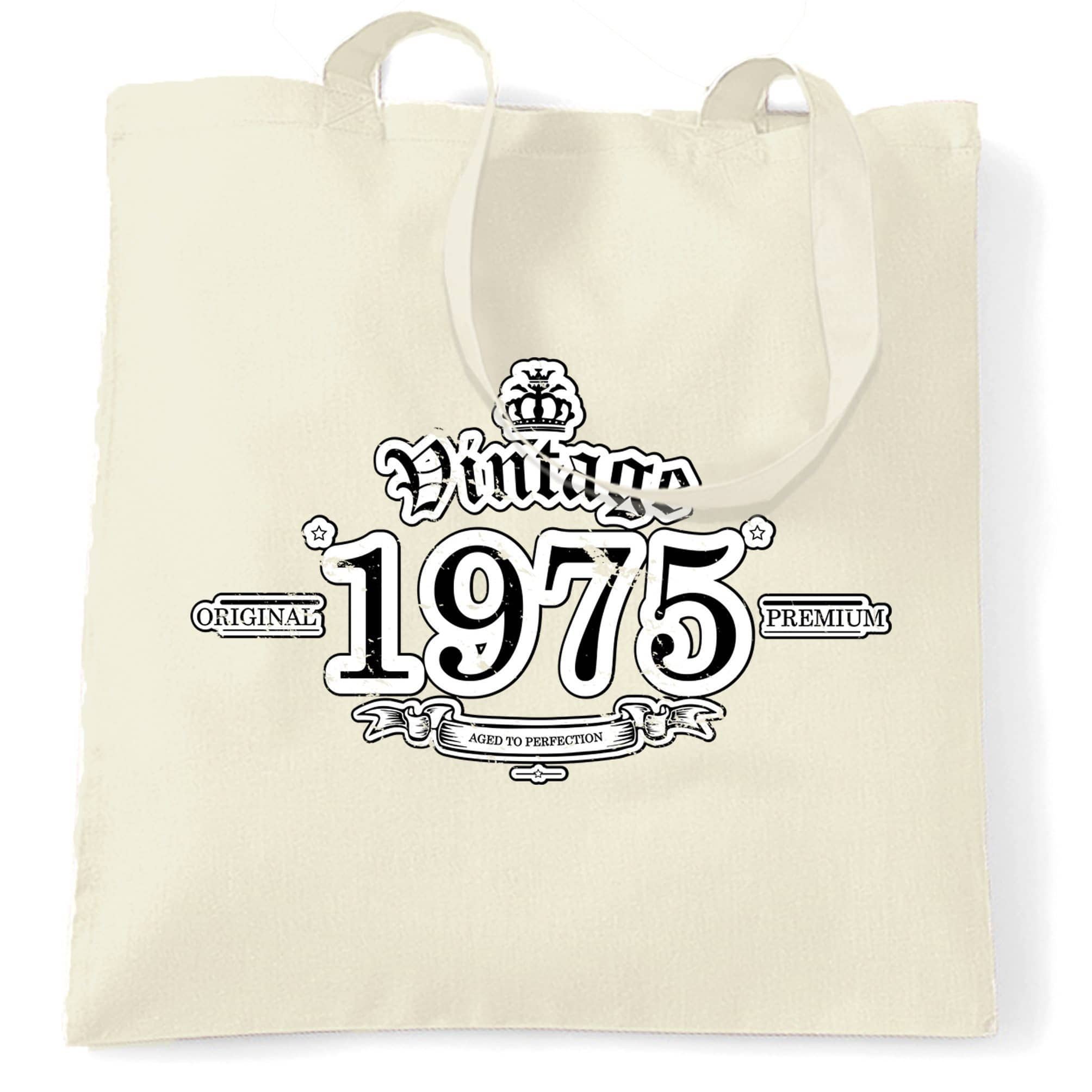 43rd Birthday Tote Bag Vintage 1975 Aged To Perfection