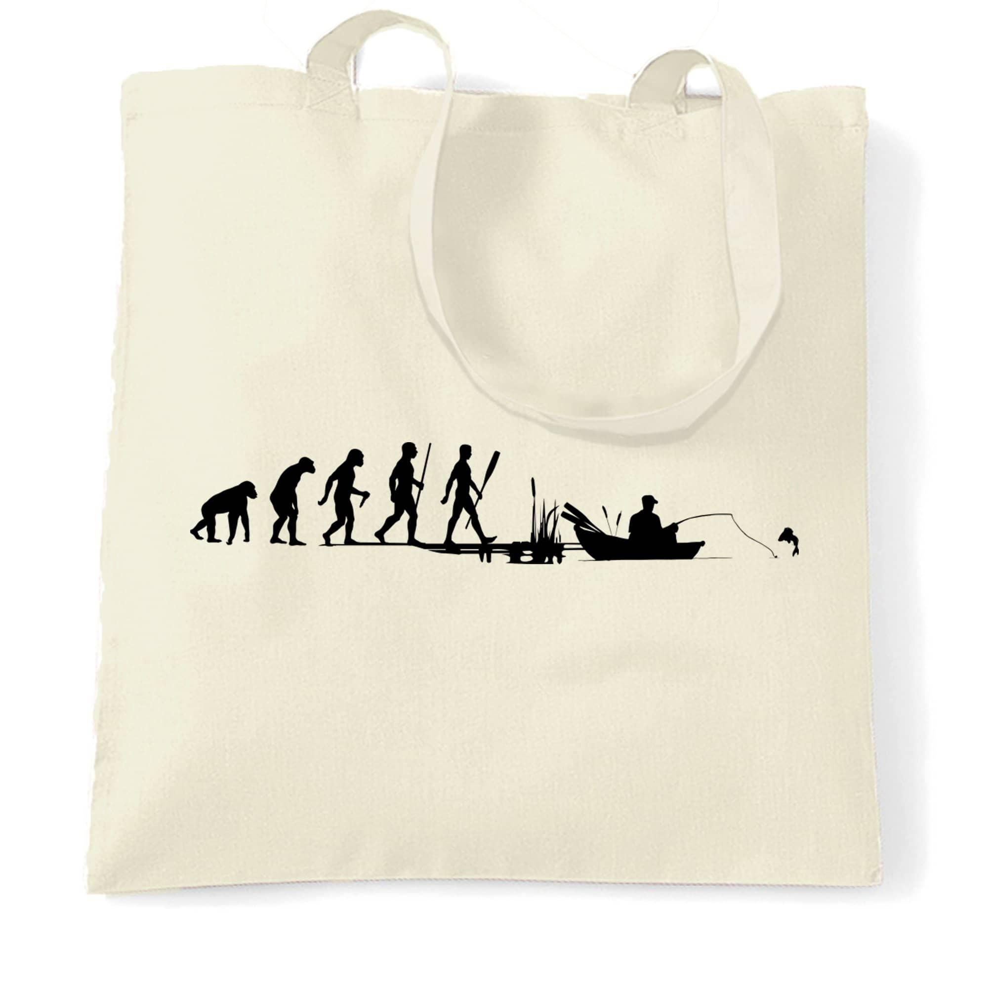 Fishing Tote Bag Evolution Of An Angler