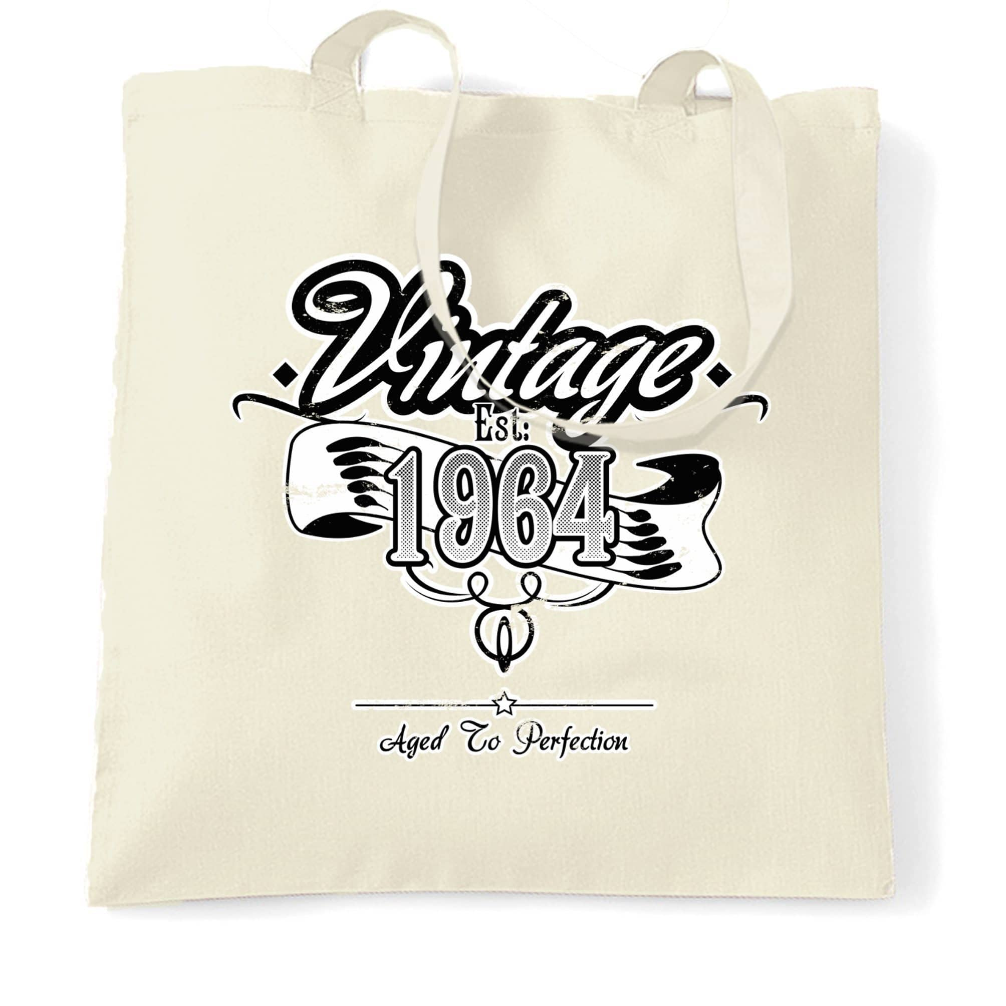 Birthday Tote Bag Vintage Est 1964 Aged To Perfection