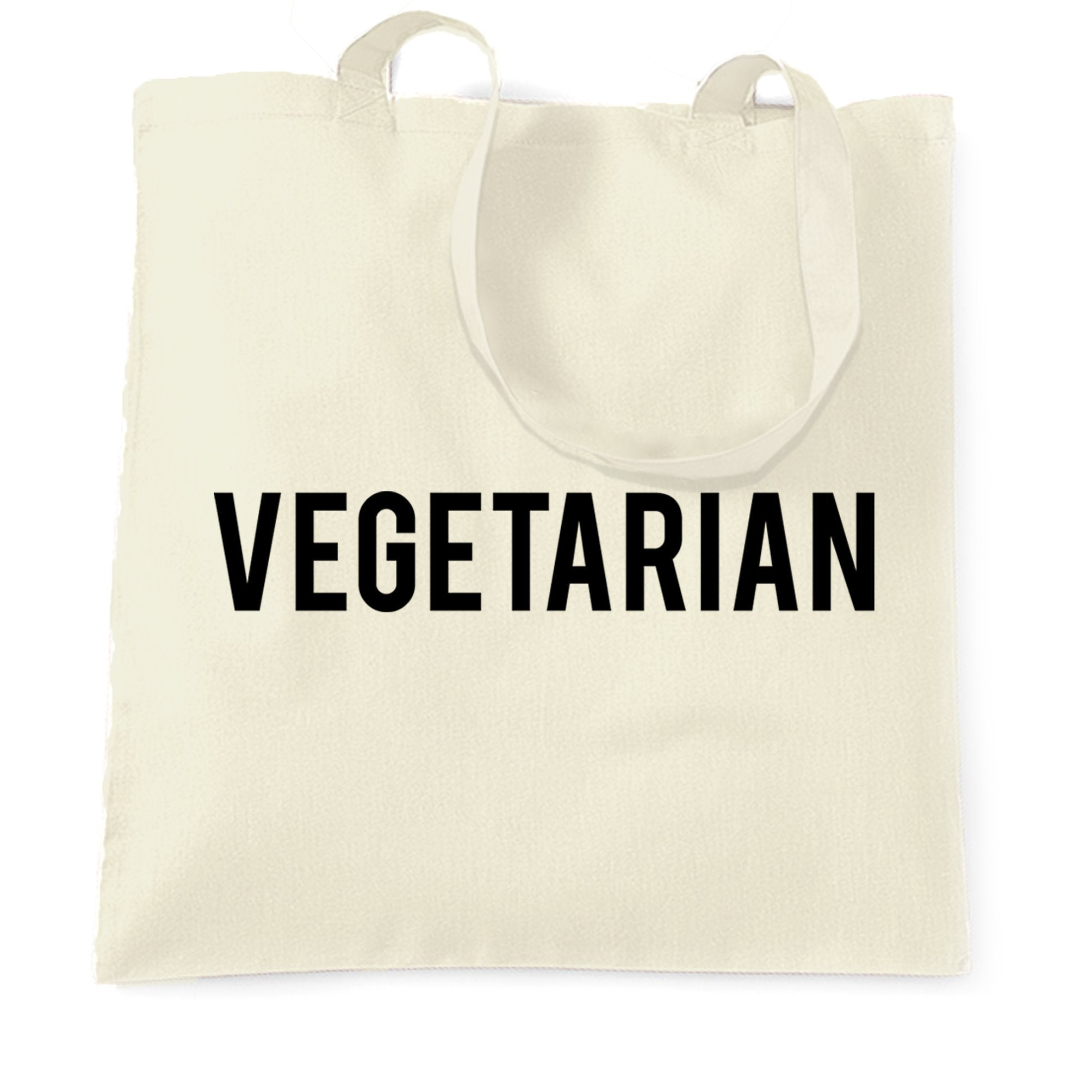 Lifestyle Tote Bag I Am A Vegetarian Text