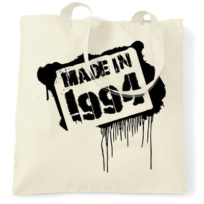 Birthday Tote Bag Made In 1994 Graffiti