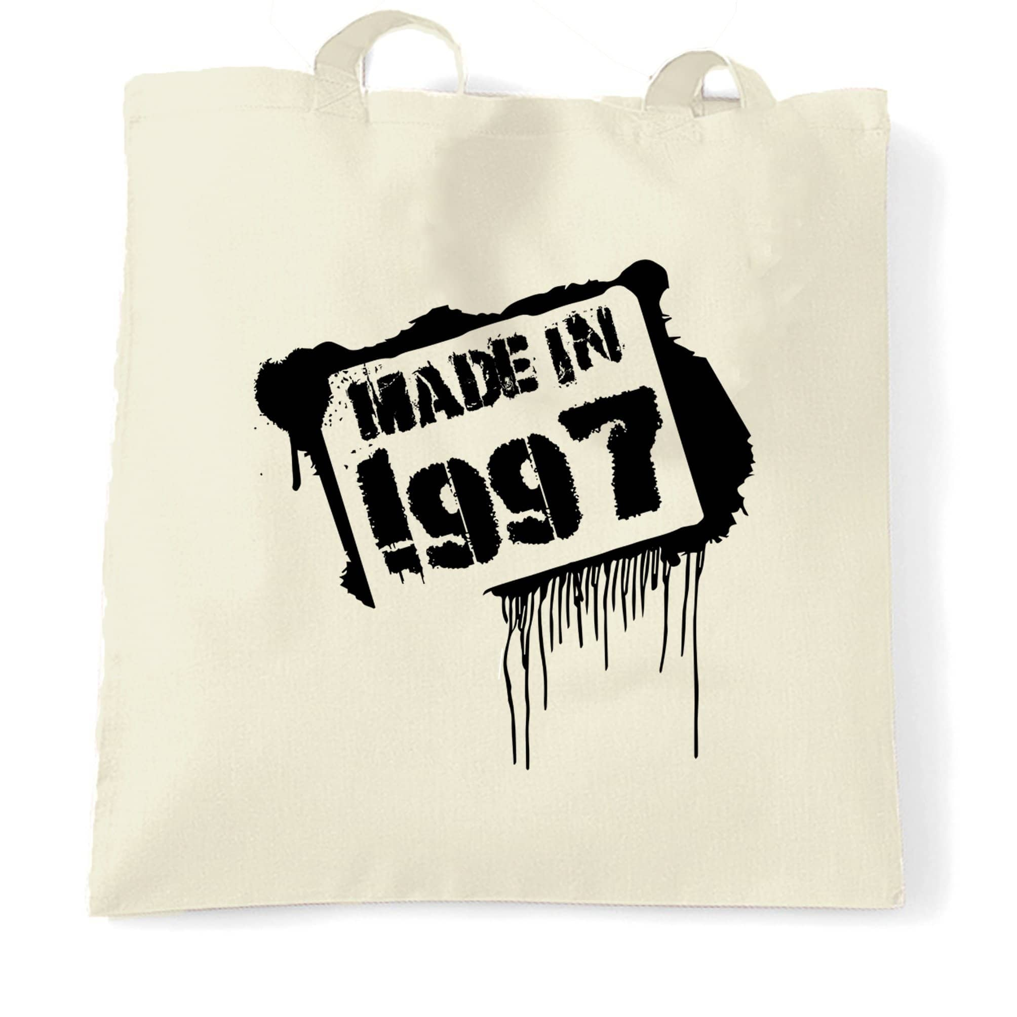 Birthday Tote Bag Made In 1997 Graffiti