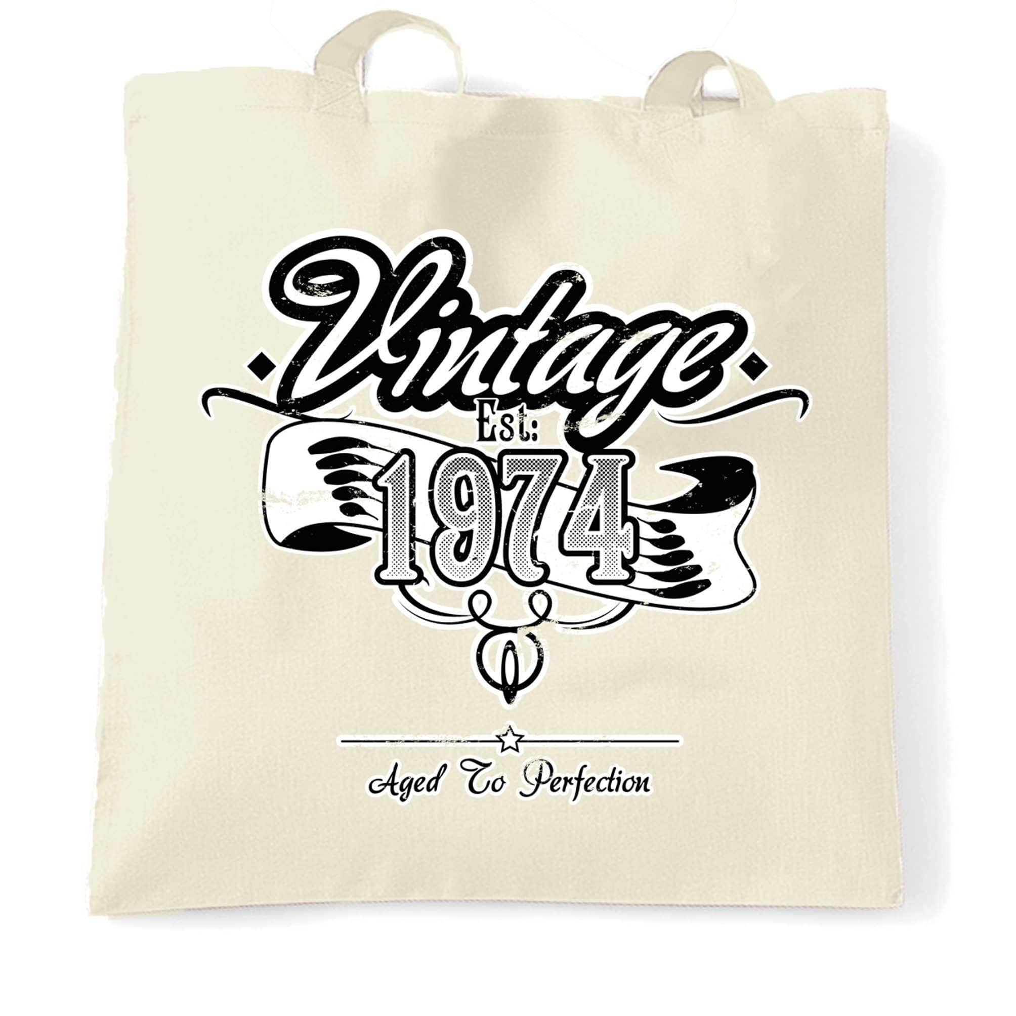 Birthday Tote Bag Vintage Est 1974 Aged To Perfection