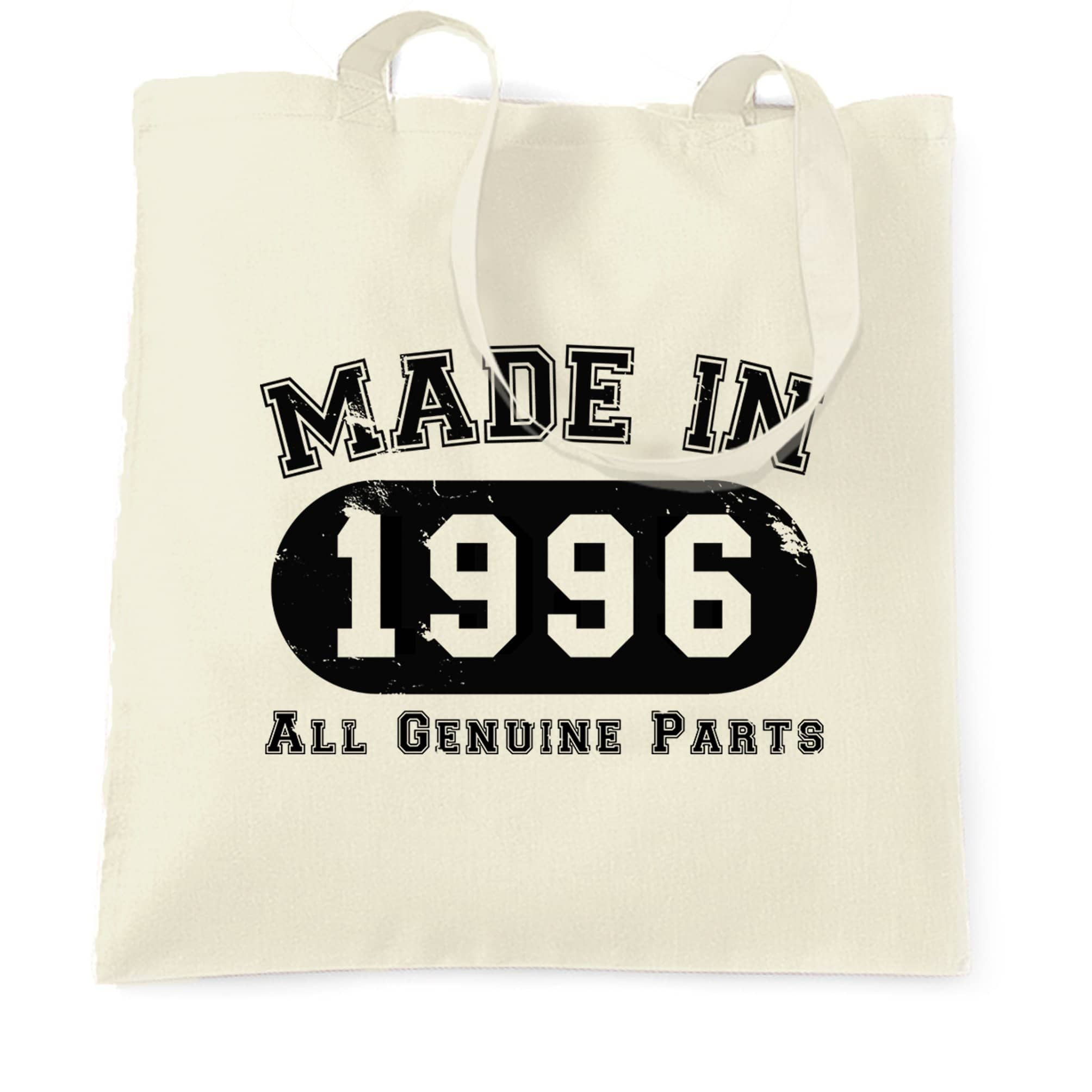 Birthday Tote Bag Made in 1996 All Genuine Parts