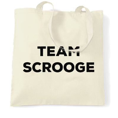 Novelty Anti-Christmas Tote Bag Team Scrooge Slogan