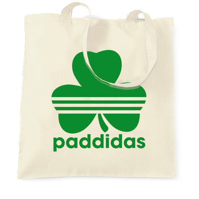 St Patricks Day Tote Bag Paddidas Paddy Irish Sport