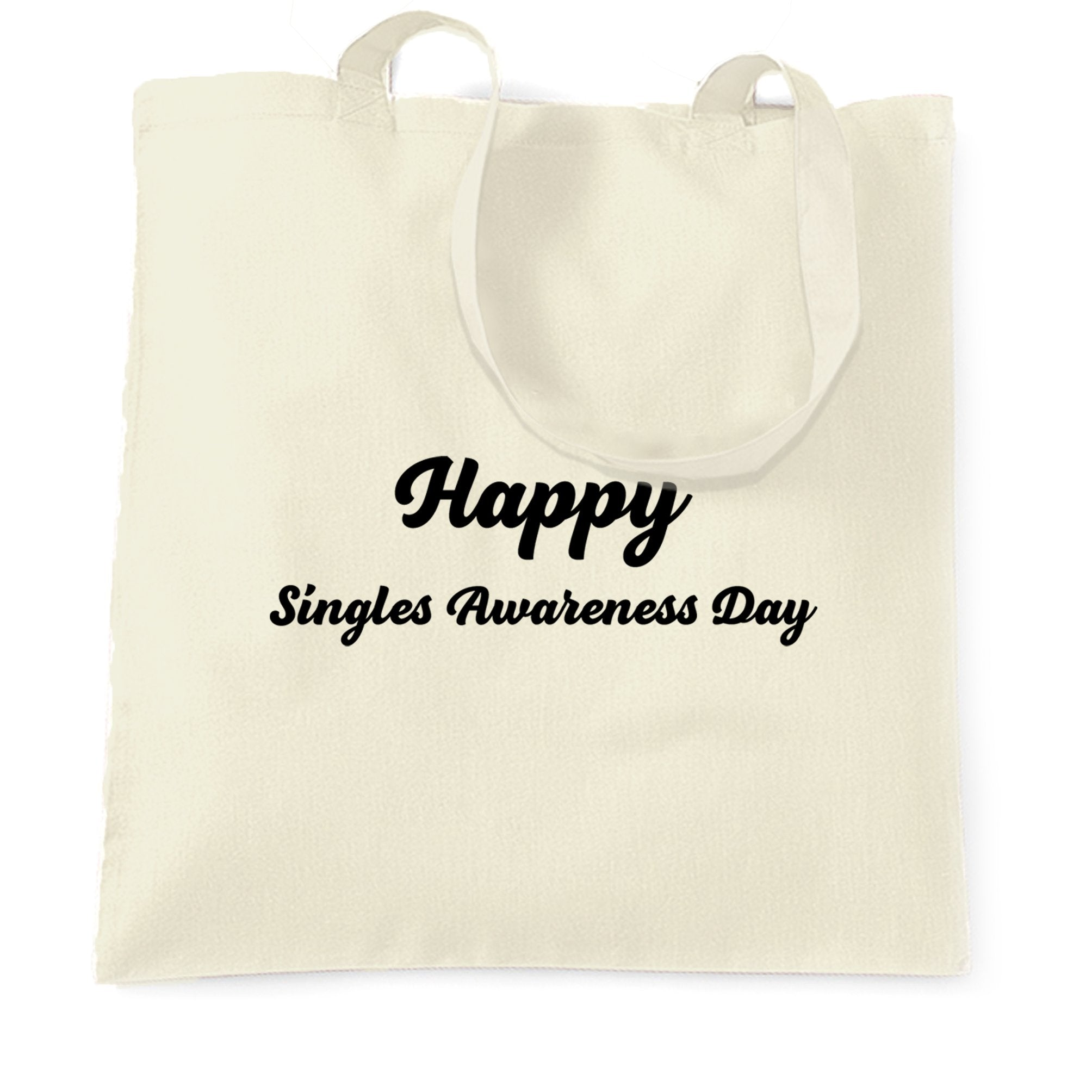 Joke Valentine's Day Tote Bag Singles Awareness Day