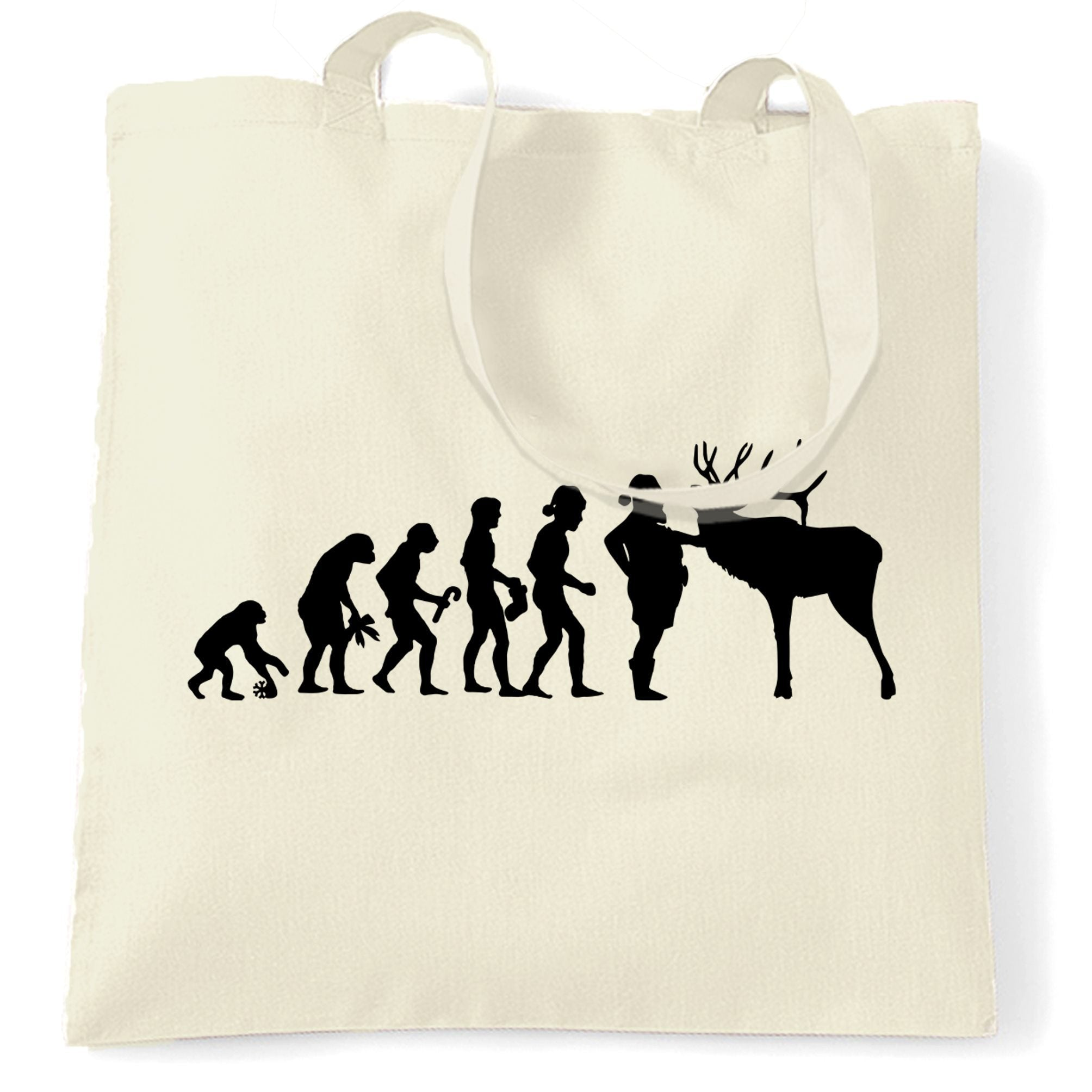 Novelty Christmas Tote Bag Evolution Of Xmas Holiday