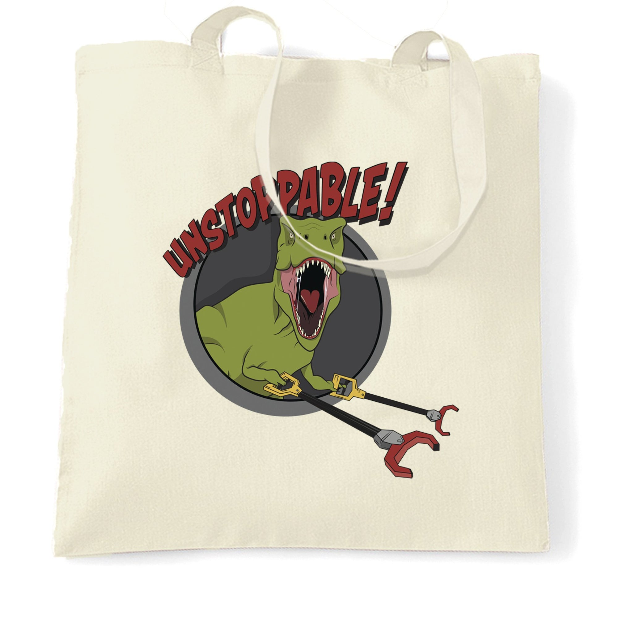 Novelty Tote Bag Unstoppable T-Rex With Grabber Hands