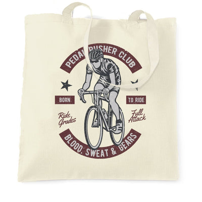 Cycling Tote Bag Pedal Pushers Cyclist Biker Club