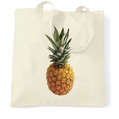 Trendy Summer Tote Bag Pineapple Fruit Photograph