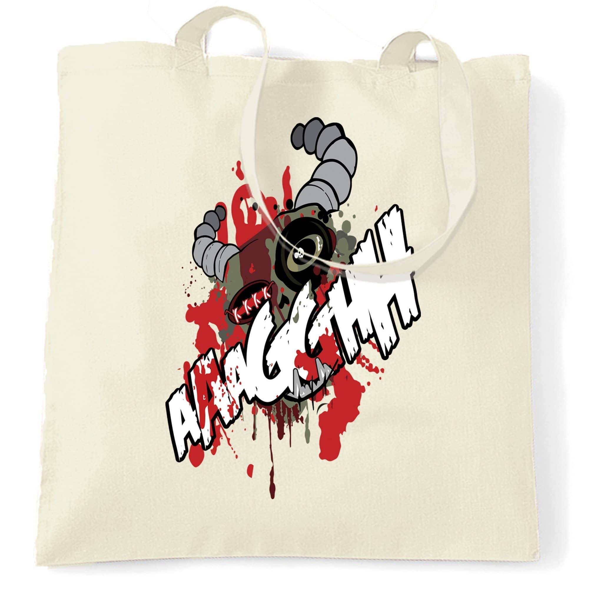 Cartoon Monster Tote Bag Scary Ogre Face