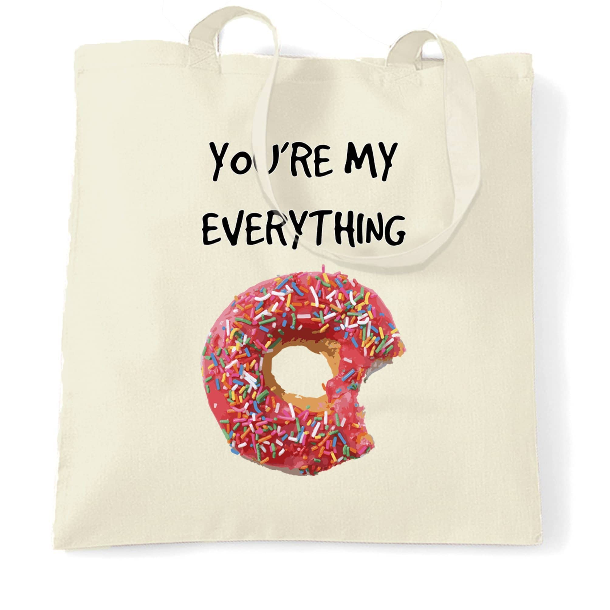 Food Tote Bag You're My Everything Donut Novelty Slogan