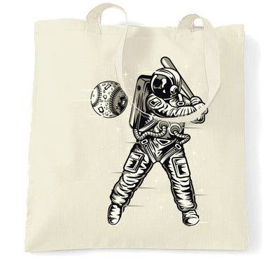 Geeky Sports Tote Bag Astronaut Space Baseball Art