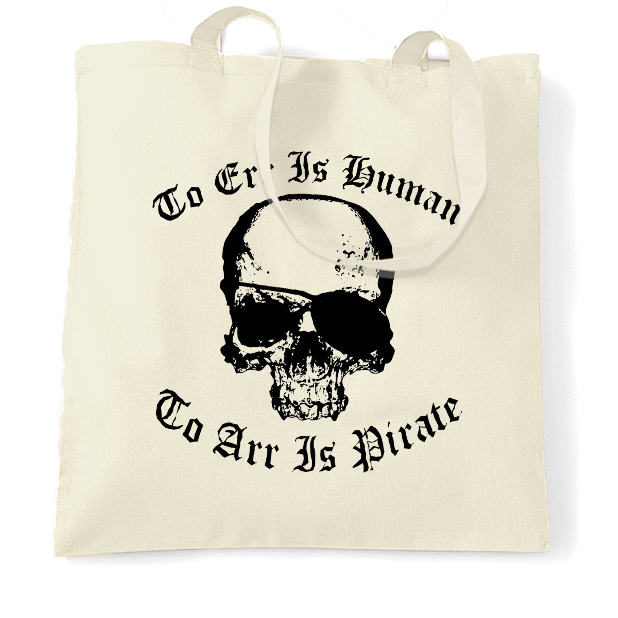 Parody Tote Bag Too Err Is Human, To Arr Is Pirate