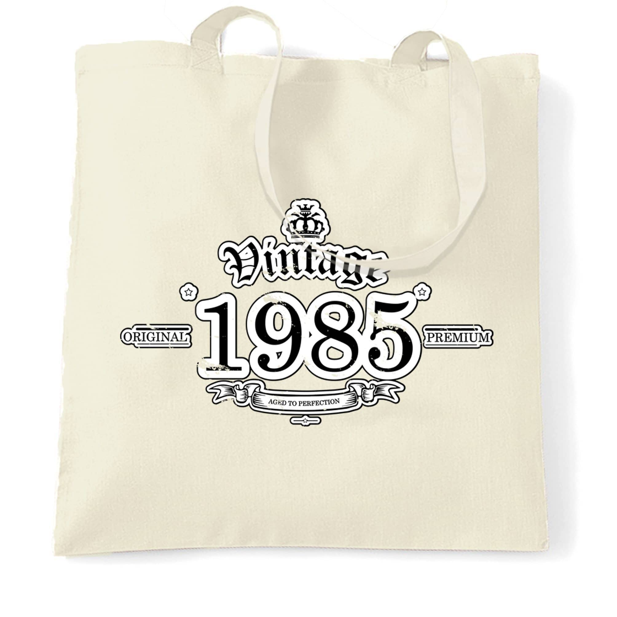 33rd Birthday Tote Bag Vintage 1985 Aged To Perfection