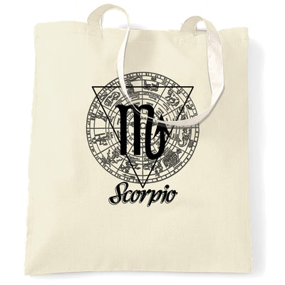 Horoscope Tote Bag Scorpio Zodiac Star Sign Birthday
