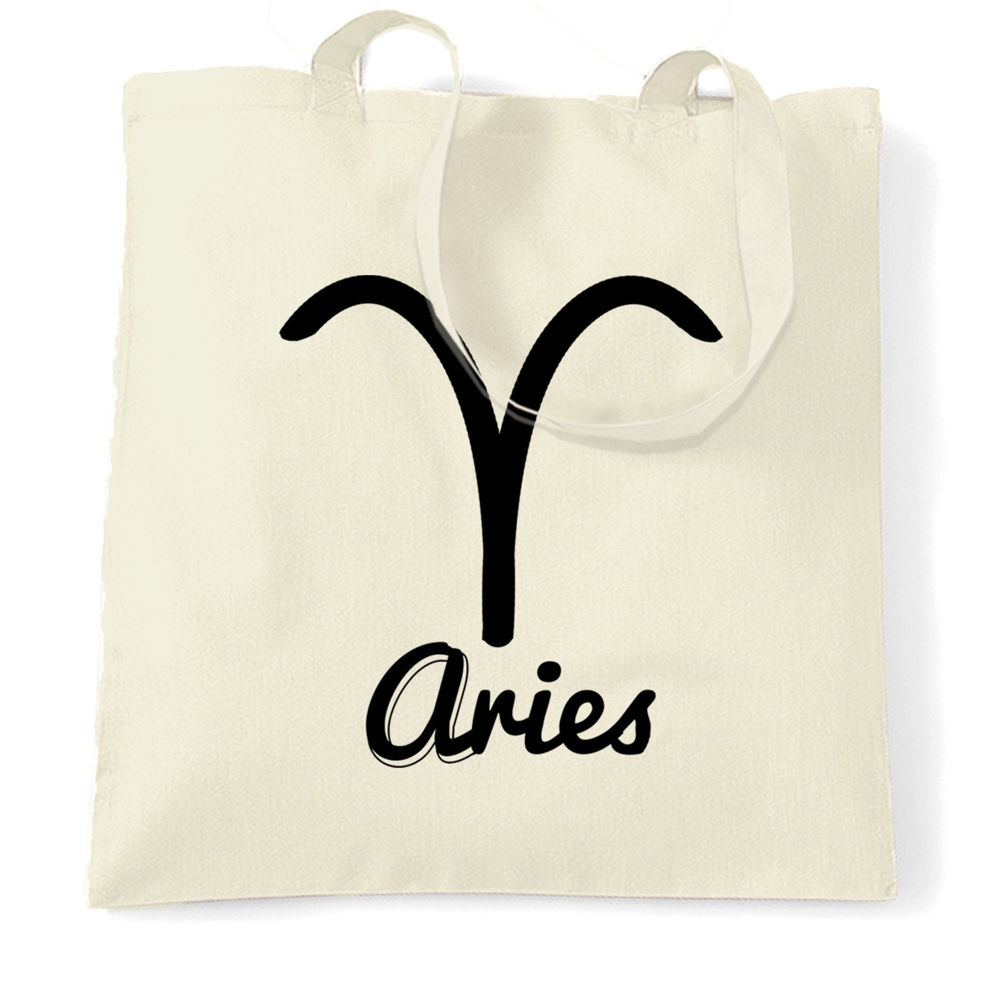 Horoscope Tote Bag Aries Zodiac Star Sign Birthday