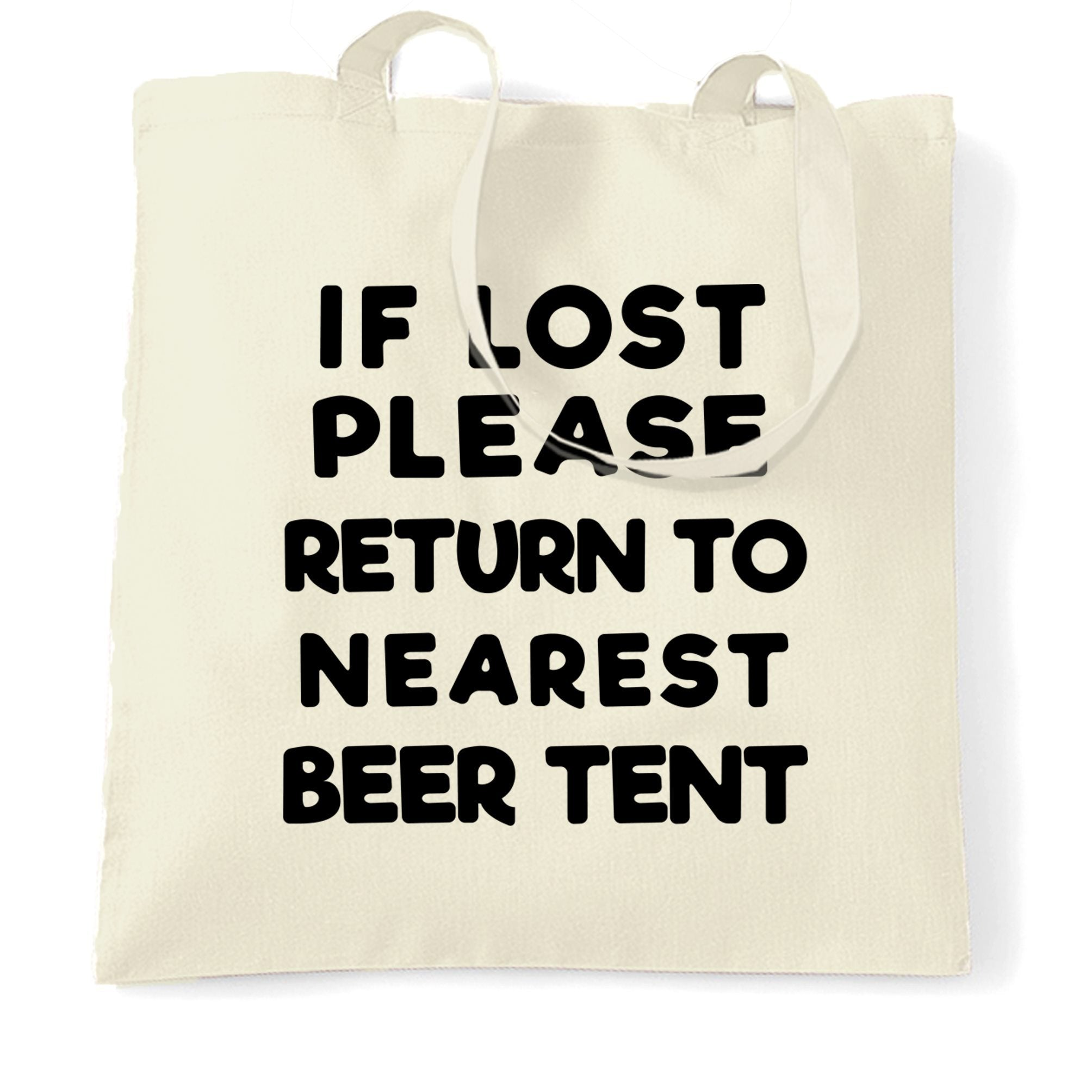Novelty Festival Tote Bag If Lost, Return To Beer Tent