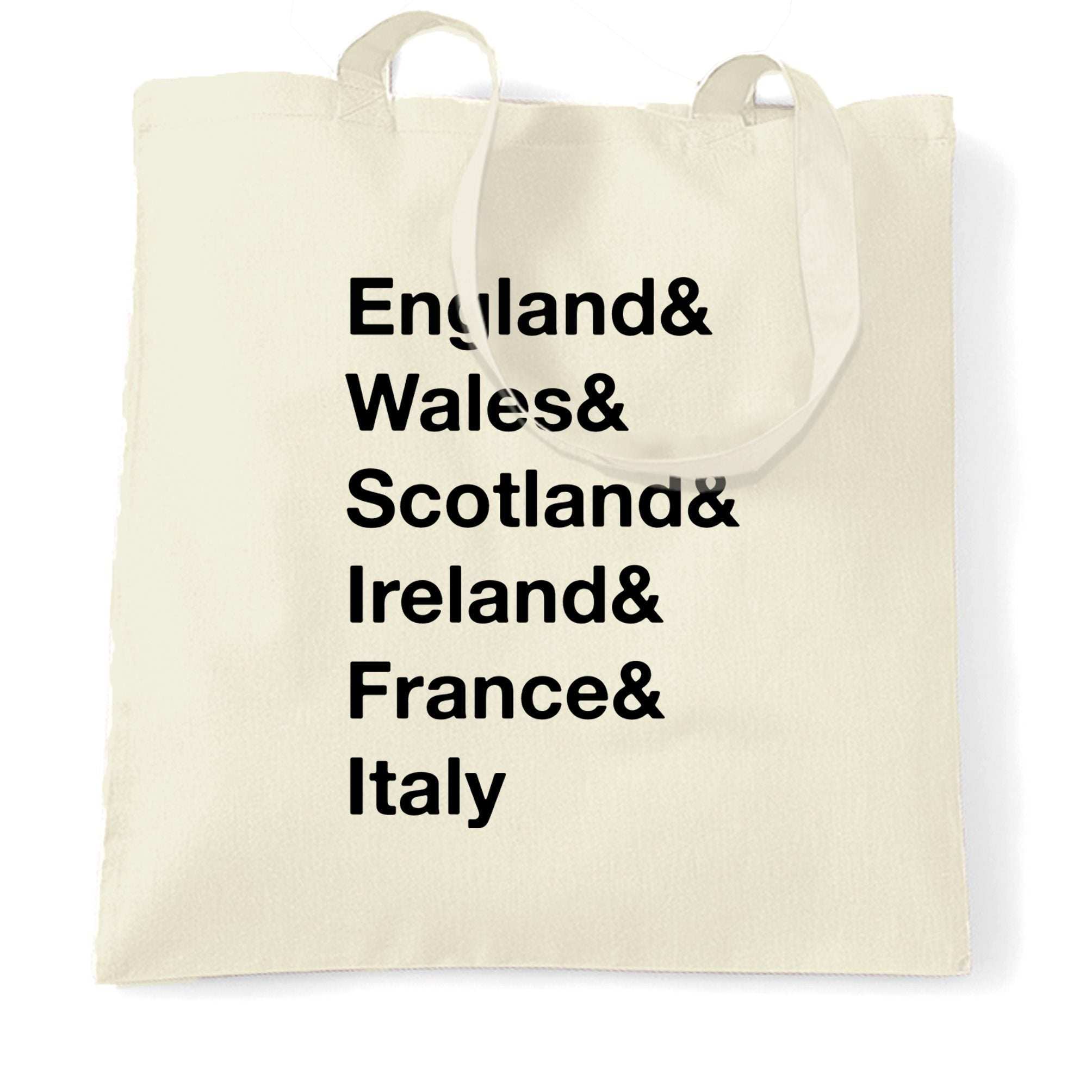 The Six Nations Tote Bag England, Wales, Scotland