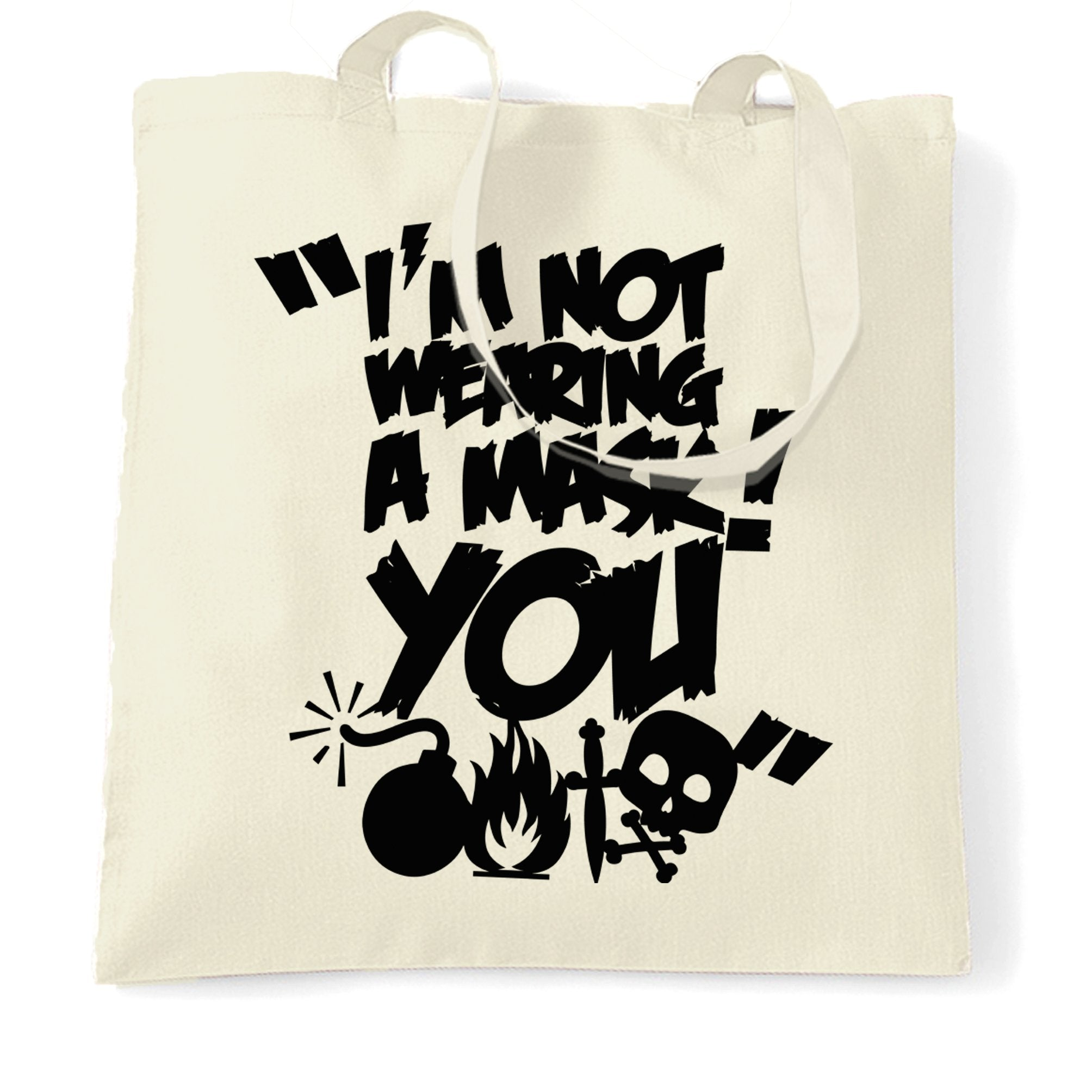 Halloween Novelty Tote Bag I Am Not Wearing A Mask