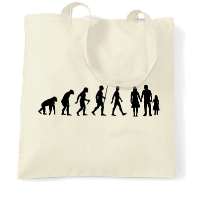 Parenthood Tote Bag Evolution Of A Family Two Girls