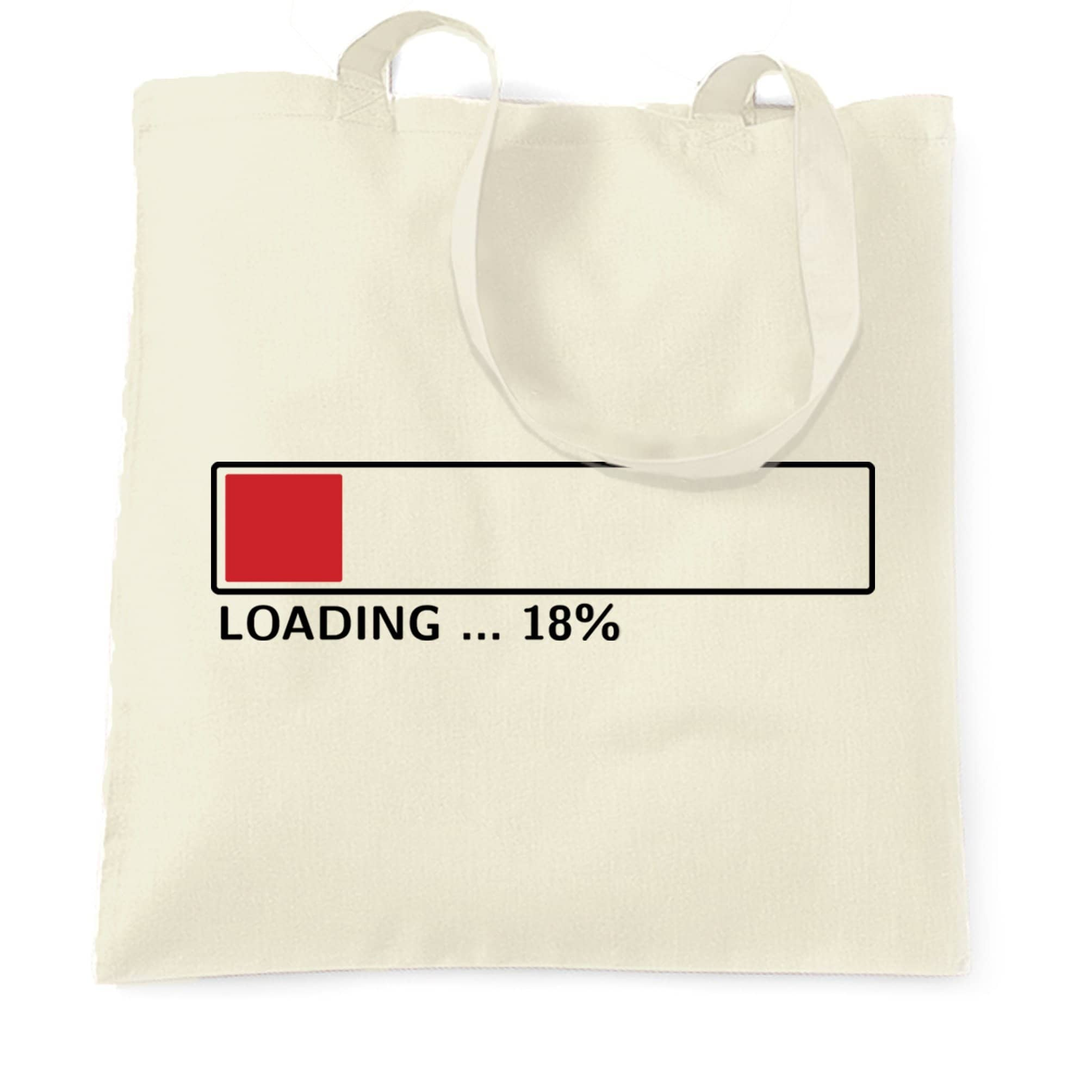 18th Birthday Tote Bag Loading 18% Complete Eighteen