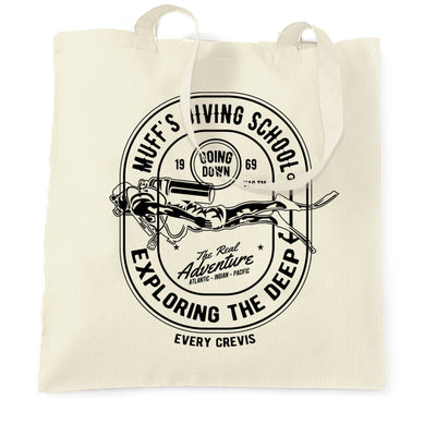 Diving School Tote Bag The Real Adventure Logo