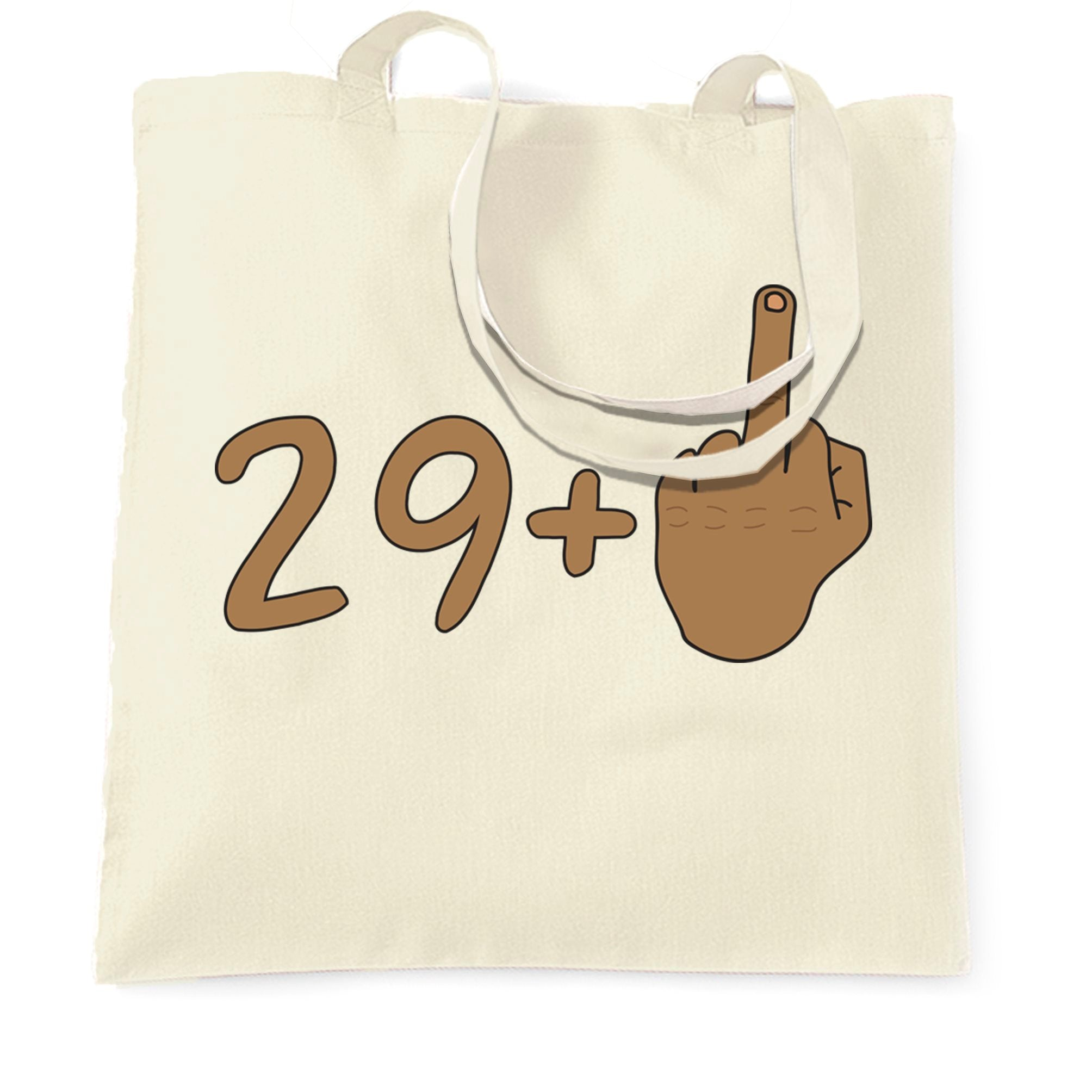 Rude 30th Birthday Tote Bag Tanned Middle Finger