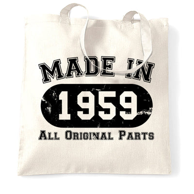 Made in 1959 All Original Parts Tote Bag [Distressed]