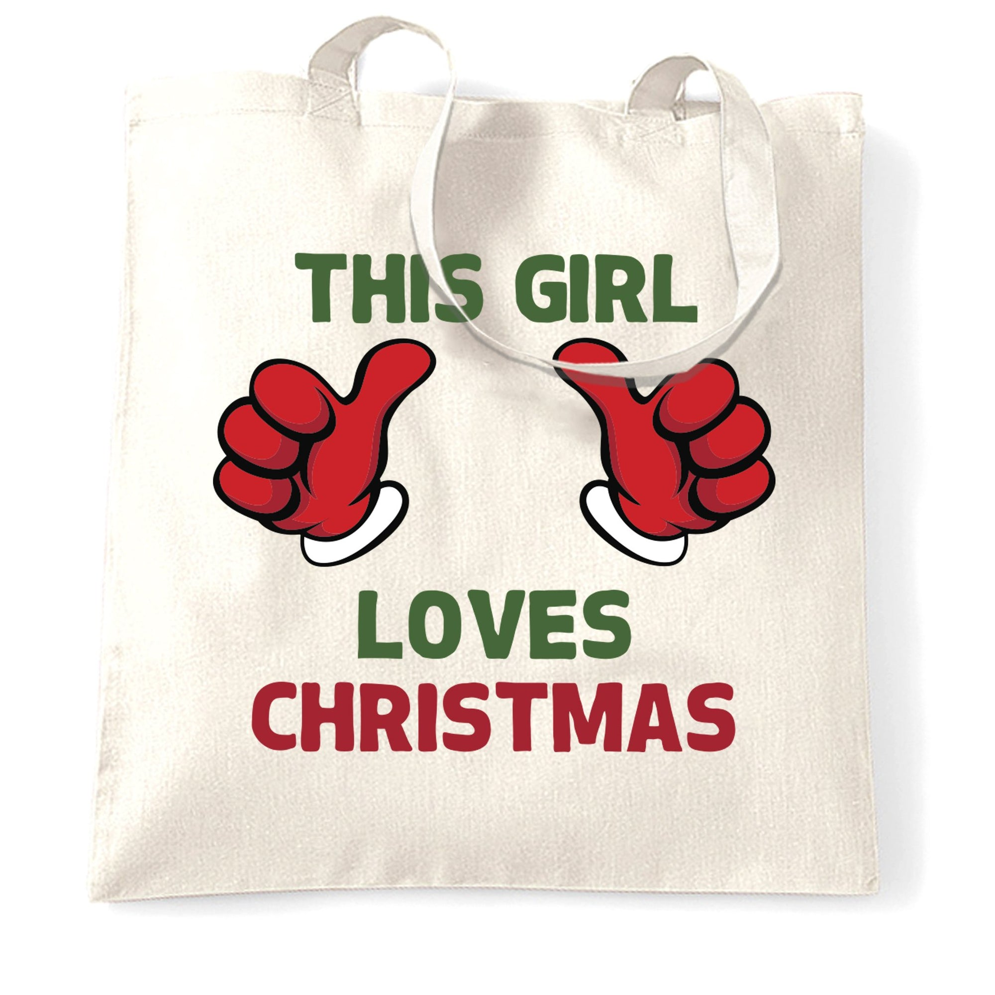 Novelty Christmas Tote Bag This Girl Loves Christmas