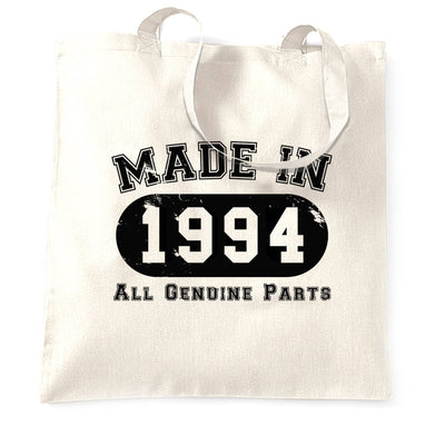 Birthday Tote Bag Made in 1994 All Genuine Parts
